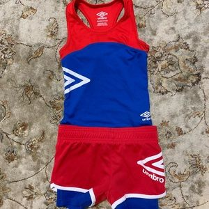 Umbro tank top and compression short set.
